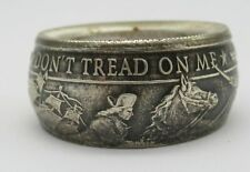 Don't tread on me coin ring. Made from pure .999 silver American Revolution coin