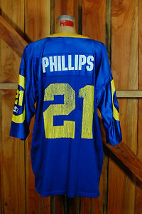 Lawrence Phillips Rams1995 Starter NFL Football Jersey #21 Men's 48/L made USA