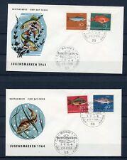 BUND Nr.412-415 SCHMUCK-FDC ESST BONN 10.4.1964 FISCHE !!! (125043)