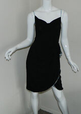 Women BCBG Max Azria Solid Black Sleeveless Cocktail Evening Party Dress Size M