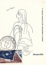 CARTE MAXIMUM - FRANCE - DEAUVILLE 1ER FESTIVAL FILM AERONAUTIQUE  - 1963 .