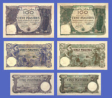 VIETNAM INDOCHINE - Lots of 6 notes - 5...100 Piastres - Reproductions