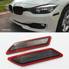 Smoke Crystal Bumper Reflector Side Marker For 13-15 BMW F30 F31 3-Series Base