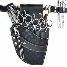 Hairdressing Scissor Pouch Kassaki Tool Belt Waist Bag Black Checkered Design