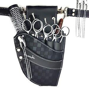 Hairdressing Scissor Pouch Kassaki Tool Belt Waist Bag Black Checkered Design