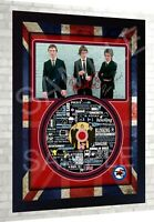THE JAM SIGNED FRAMED PHOTO&CD Disc Presentation Display