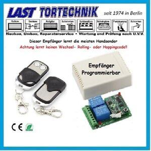 Programmer Basic, 433Mhz Funk Empfänger, Taster-Schalter, m.1 St.2-Kanal Sender