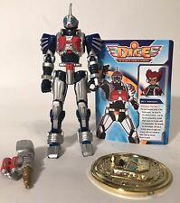 "DICE DNA Integrated Cybernetic Enterprises Jet Siegel 4"" Figure Bandai 2004 Blue"