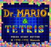 Tetris And Dr. Mario - SNES Super Nintendo Game
