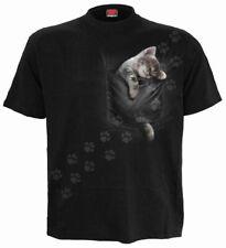 Spiral - Pocket Kitten T-Shirt nur Frontdruck