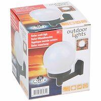 Lampe Solaire LED Mural Ø11x15cm Plastique - Noire