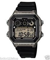 AE-1300WH-8A Japan Movt New Casio Watch 10-Year Battery World Time Resin Band