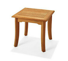 "21"" TEAK WOOD SIDE SQUARE TABLE END STOOL BATH SHOWER SPA OUTDOOR INDOOR PATIO"
