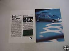 advertising Pubblicità DOPPIA 1983 BMW 524 TD