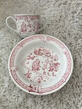 Spode Winnie Pooh Disney 2003 taza y tazón de cereal Excelente Rojo Coleccionable