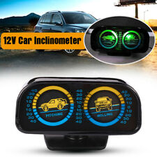 12V Car Auto Inclinometer Meter Gauge Balancer Slope Instrument Pitching Rolling