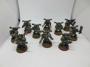 Death Guard Chaos Space Marine Squad (10) Forgeworld Conversions Painted G178