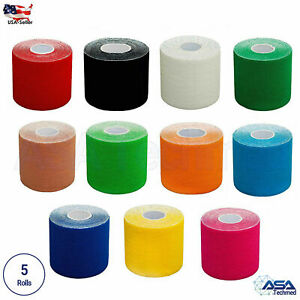5x Roll Kinesiology Sports Muscles Running Care Elastic Physio Therapeutic Tape