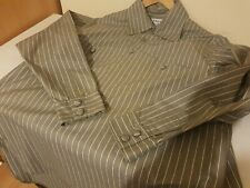 A CHILD OF THE JAGO long sleeve shirt Grey Rope Stripe size 42 Made in England