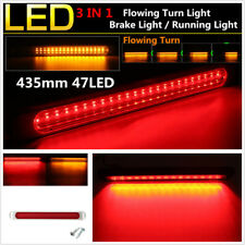 "17"" Dual Color 47 LED Flowing Turn Light Car Brake Light Bar Tail Warning Light"