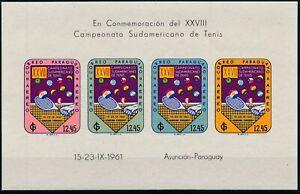 [PG10176] Paraguay 1961 Tennis good sheet very fine MNH