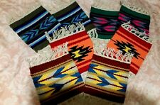 "wholesale New 8 coasters Table Rugs 6x6"" Handwoven Loomed  Southwestern!"