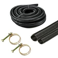 More details for black corrugated water butt hose pipe extension overflow flexible connector tube