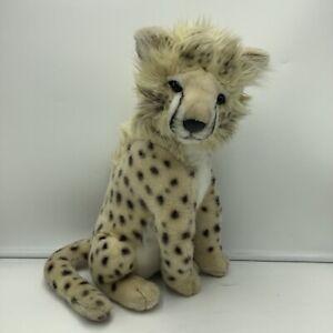 "Hansa Cheetah Cub Plush Realistic Wildlife Stuffed Animal 11"" 2004"