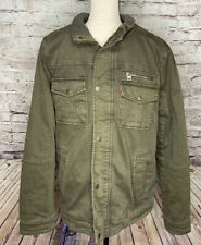 Levis Olive Green Trucker Jacket Mens Size M