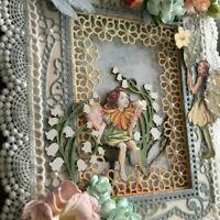 Lace Flower Frame DIY Metal Cutting Dies Stencil Scrapbooking Paper Card Craft