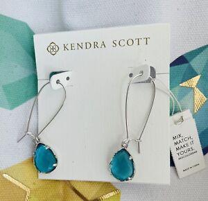 Kendra Scott London Blue Dee Silver Earrings