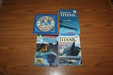 4 Titanic History Readers Books Lot Finding Remembering Disaster Polar Bear