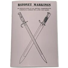 More details for british & german ww1 ww2 unit bayonet markings identification guide booklet book