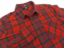 New Volcom Gaines Plaid Flannel Shirt Mens Size Medium M Retail $65