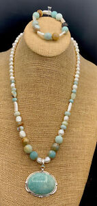 Barse Sublime Necklace & Stretch Bracelet- Multi-Stone- Sterling Silver- NWT
