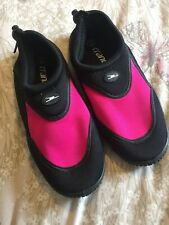 Girls Crane Beach Water Shoes Size Uk 2 Pink And Black Holiday Water Sports