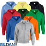 Gildan MEN'S ZIPPED HOODIE FULL ZIP SWEATSHIRT HOOD PLAIN HEAVY BLEND NEON S-5XL