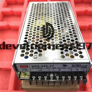 NEW Mean Well NES-200-27 27V 7.8A Switching Power Supply