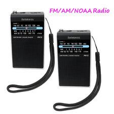 2pcs Retekess Pocket FM/AM Radio 87-108 MHz 3 Band Weather Warning for Walking