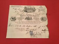 James T Goudie & Co 1880 Glasgow Surgical & Domestic Goods receipt R35735