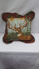 "Buck Deer 16"" Throw Pillow"