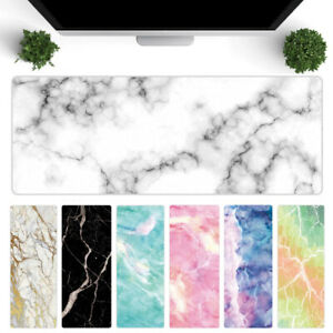 Large Marble Grain Soft Mouse Pad Office Computer Desk Mat Table Cushion