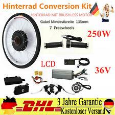 26''250W E-Bike Conversion Kit LCD Elektro-Fahrrad Heckmotor Umbausatz Hinterrad