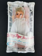 Nos Sealed Bitty Bye Baby in Cradle 1974 by Uneeda Toys Blue Eyed Girl