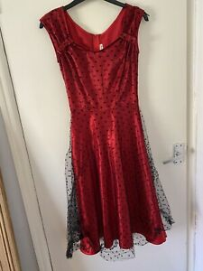 Stop Staring Gorgeous Scarlet Pin Up Dress Small
