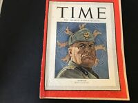 TIME MAGAZINE VINTAGE MUSSOLINI HIS HEEL IS IN HOT WATER JUNE 21, 1943 TIME