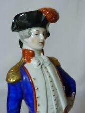Général LA FAYETTE Biscuit historique Empire Saxe de SCHEIBE ALSABCH 22.5CM