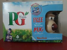 More details for two new pg tips wallace and gromit thermo-nose mugs in outer box without tea bag