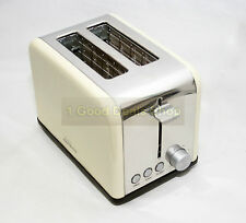 Modern  2 Wide Slice Cool Touch Toaster 6 Level Browning Control Cream ES