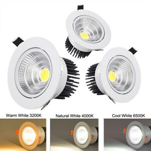 Dimmable Recessed Led Ceiling Downlight COB Spotlight Lamp Bulb 110/220V 7/9/20W